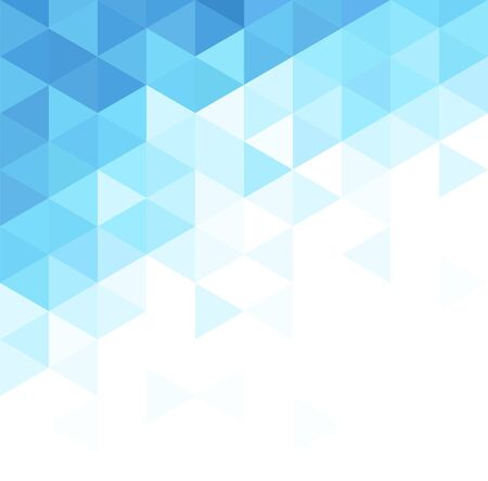 Illustration for Abstract triangular background. Blue geometric pattern. - Royalty Free Image