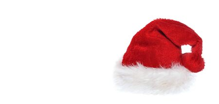 Photo pour santa claus in with white fur isolated on white background with copy space on the left - image libre de droit