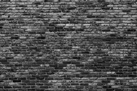 Photo pour Black brick wall. Loft interior design. Architectural background. - image libre de droit