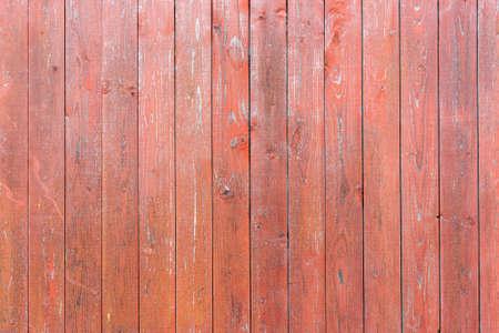 Photo pour Old vintage wood planks. Red-brown wooden fence. - image libre de droit
