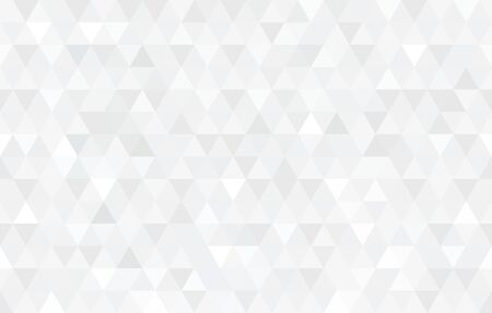 Vector white triangular mosaic texture. Abstract geometric pattern. Modern low poly background.