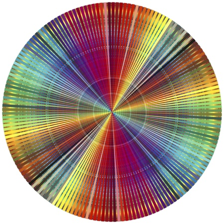 Rainbow color wheel. Decorative poster for all who are in the prepress and printing business