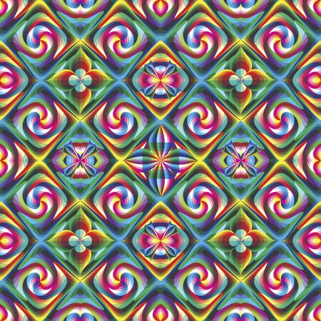 Pop art seamless poster mosaic in vivid colors