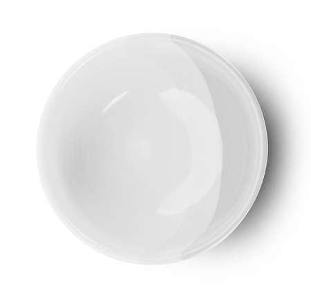 Photo pour empty bowl isolated on white background - image libre de droit