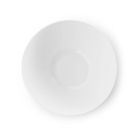 Photo for empty plate isolated on white background - Royalty Free Image