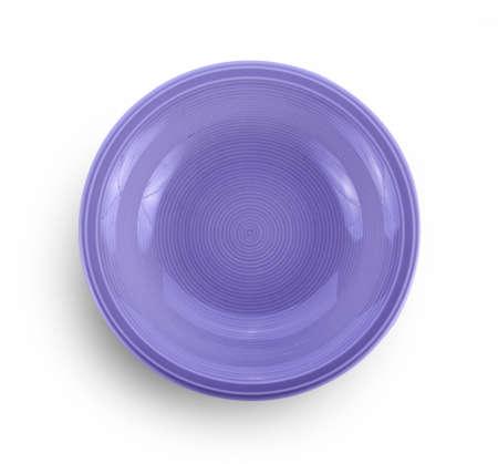 Photo pour empty ceramic bowl on white background - image libre de droit