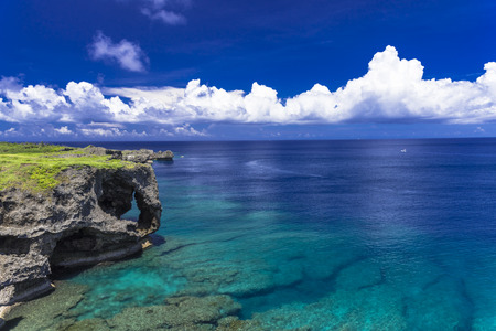 Photo pour beautiful coral sea of Okinawa - image libre de droit