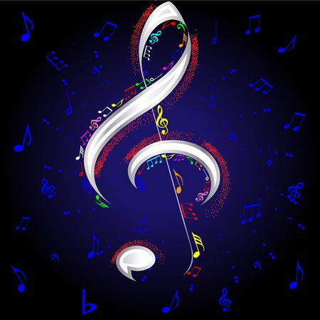 vector firework musical notes