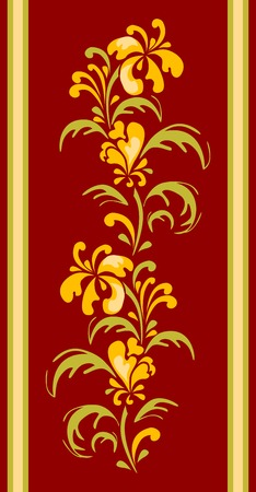 Illustration for floral designe for carpet - Royalty Free Image