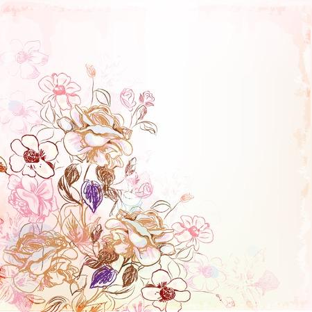 Illustration pour floral background - image libre de droit
