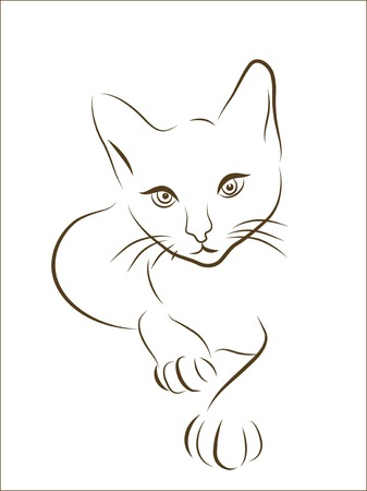 graphic illustration of  hunting cat