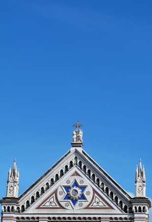 Foto per Firenze, particolare della chiesa di Santa Croce 07 - Immagine Royalty Free
