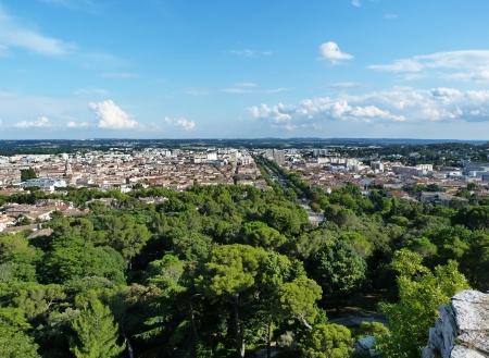 Landscape of Nimes, France