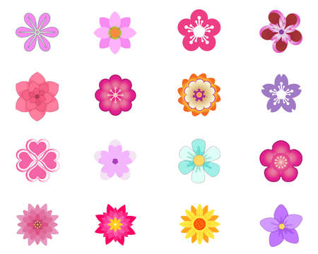 Illustration pour flower Icons set vector illustration - image libre de droit