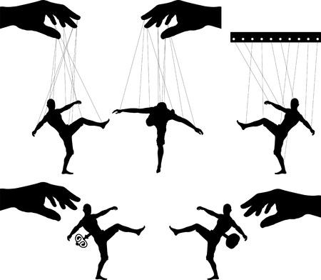 marionettes  third variant  vector illustration