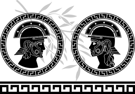 roman god and goddess  vector illustration