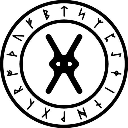 gar ancient rune. vector illustration