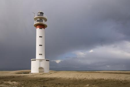 Lighthouse at the beach of El Fangar, Delta de l