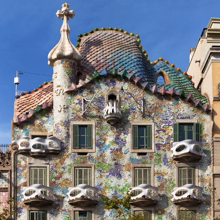 Casa Batllo in Barcelona, Spain.