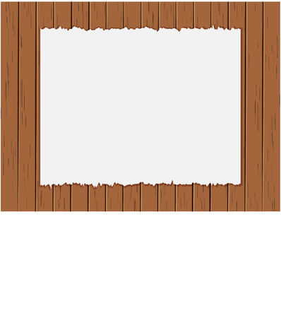 Vector illustration ripped paper on old wood panels background