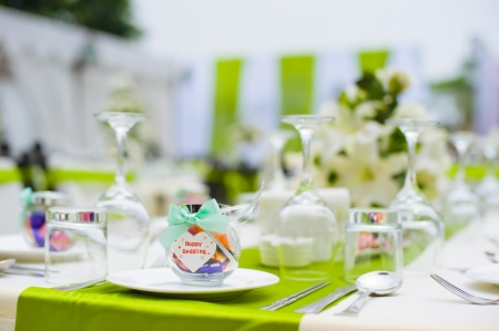 Table set for an party or wedding reception