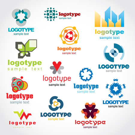 Set of vector logo for your company or a site,