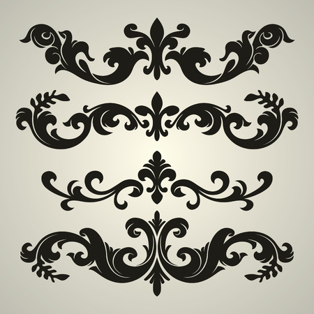 vector ornament In flower style