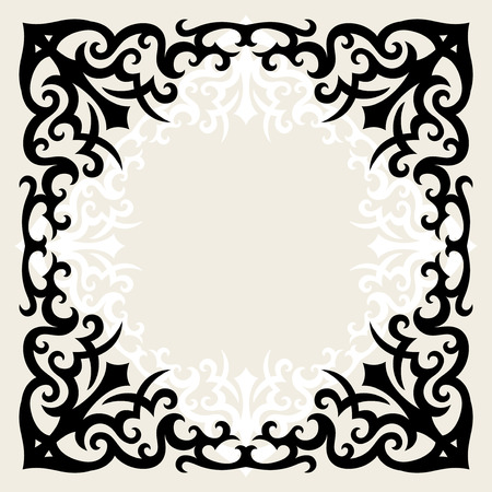 vintage template frame In gothic style