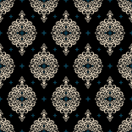 Ilustración de Seamless pattern based on traditional Asian elements Paisley. Boho vintage style vector background. Best motive for print on fabric or papper. - Imagen libre de derechos