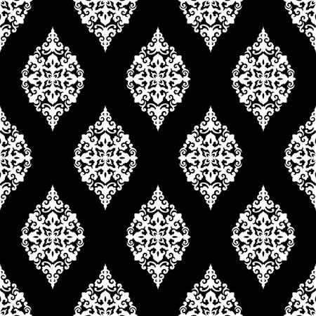 Illustration pour Seamless vector pattern. Traditional asian ornamental motive. - image libre de droit