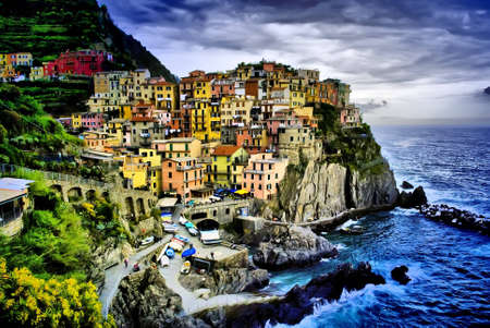 an hdr picture of Manarola in Liguria