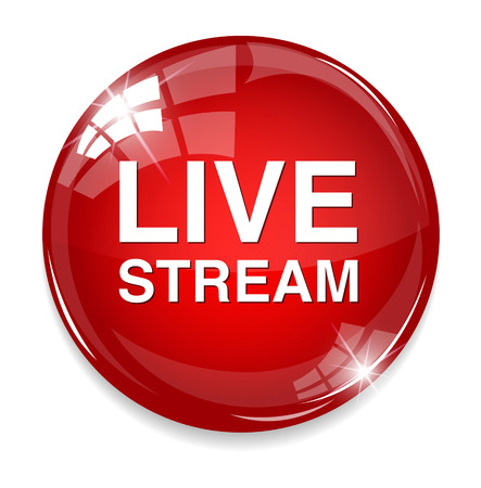 Illustration for Live stream button - Royalty Free Image