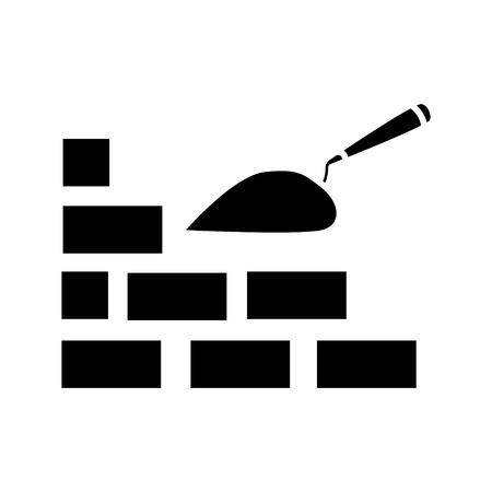 Photo pour bricks construction icon - image libre de droit