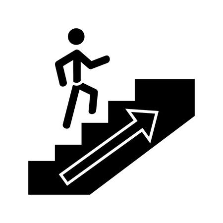 Ilustración de going up man icon - Imagen libre de derechos