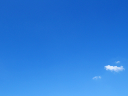 Photo for Clear blue sky with tiny clouds - Royalty Free Image
