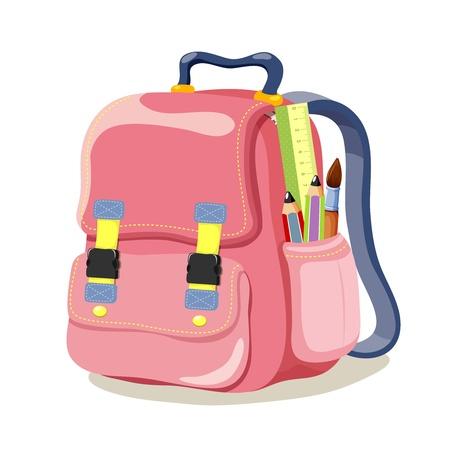 Illustration pour School backpack - image libre de droit