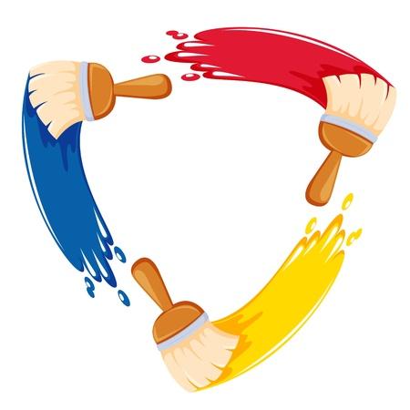 Illustration pour colorful paint brush - image libre de droit
