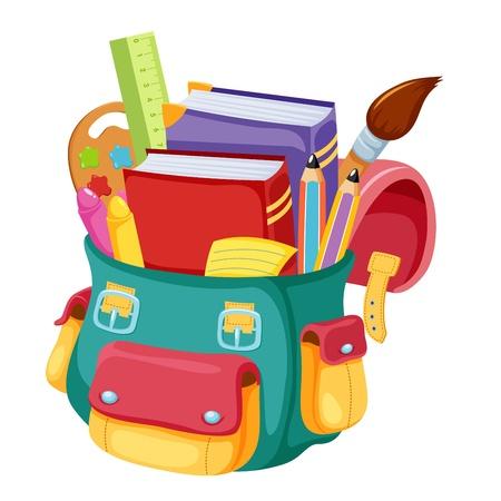 Illustration pour Back to school,school bag illustration - image libre de droit
