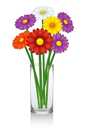 Illustration pour Flowers in vase - image libre de droit