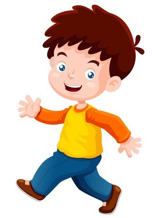 Illustration pour illustration of boy happy  - image libre de droit