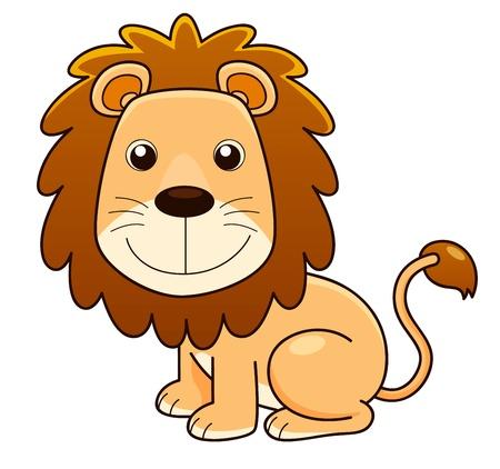 illustration of Lion cartoon Vector