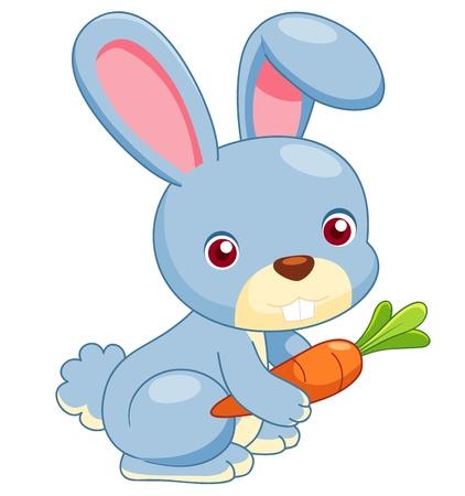 Ilustración de illustration of cartoon rabbit vector - Imagen libre de derechos