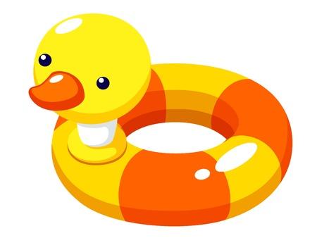 Illustration of Swim ring duck vector