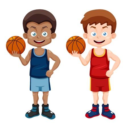 Vektor für illustration of cartoon basketball player - Lizenzfreies Bild