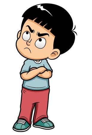 Ilustración de illustration of Angry teenage boy - Imagen libre de derechos