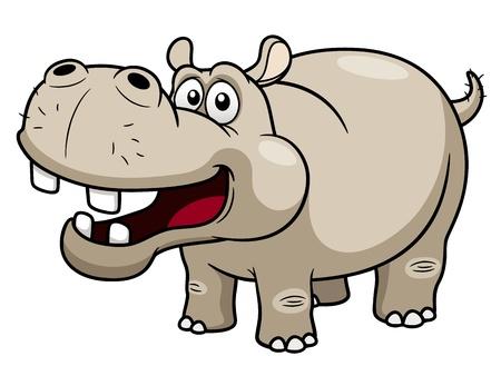 Ilustración de illustration of Cartoon Hippopotamus - Imagen libre de derechos