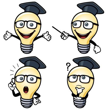 vector illustration of Cartoon light bulb