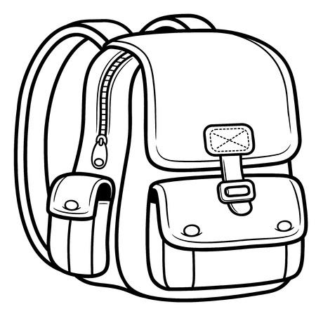 Illustration pour Vector illustration of school bag - Back to school - image libre de droit