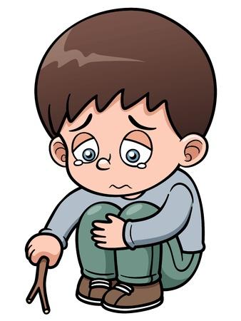 Illustration of Sad boy