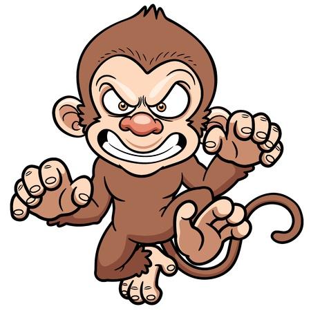 illustration of cartoon Angry monkey